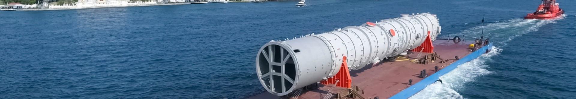 Transportu ładunków ponadgabarytowych na wodzie